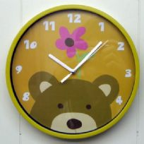 Childrens Bedroom Teddy Bear Wall Clock
